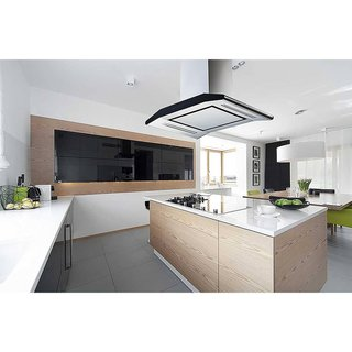 """Winflo 36"""" Convertible Stainless Steel 800 CFM 5 Speed Island Range Hood with 2 Sides Touch Control"""