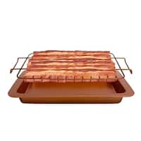 Gotham Steel Bacon Bonanza Bronze Aluminum Oven-safe Non-stick Bacon Drip Rack