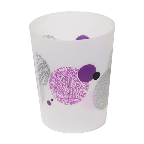 "Evideco Bath Trashcan Waste Bin Valentine - Purple,Gray, White, Pink, Multi - 7.68""L x 7.68""W x 9.45 inchesH"