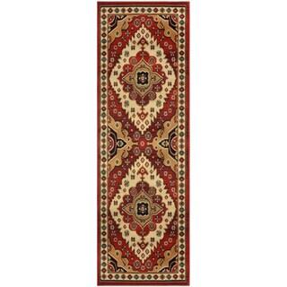 """Miranda Haus Designer Aztec Area Rug (2'7"""" x 8') - 2'6"""" x 8'"""