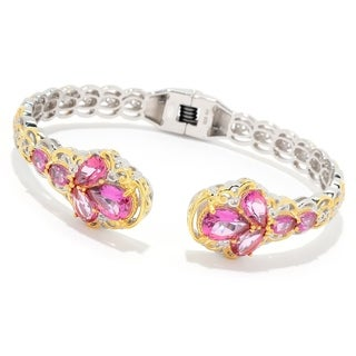 Michael Valitutti Palladium Silver Martha Rocha Color Topaz Kissing Cuff Bracelet