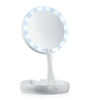 My Foldaway Mirror Lighted, Double Sided Vanity Mirror As Seen On TV - White