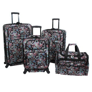 World Traveler Paisley 4-piece Rolling Expandable Spinner Luggage Set|https://ak1.ostkcdn.com/images/products/17654268/P23865666.jpg?_ostk_perf_=percv&impolicy=medium