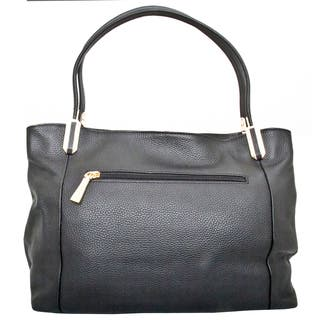 Leatherbay Garda Black Leather Tote Bag|https://ak1.ostkcdn.com/images/products/17654955/P23866172.jpg?impolicy=medium