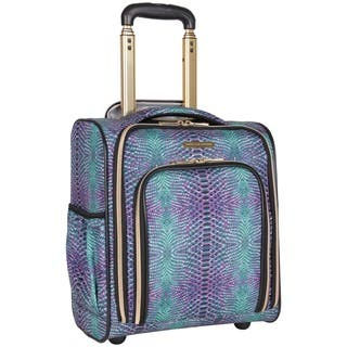 Aimee Kestenberg Sydney 15-inch Marine Python Printed Underseat Rolling Carry On Tote Bag|https://ak1.ostkcdn.com/images/products/17654969/P23866157.jpg?impolicy=medium