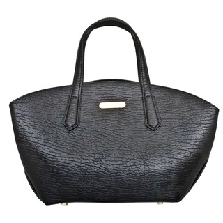 Leatherbay Orta Black Leather Tote Bag