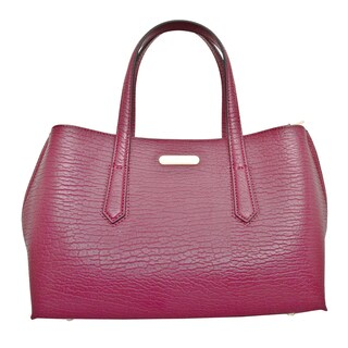 Leatherbay Patria Wine Red Leather Tote Bag