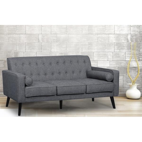Donna Mid Century Style Fabric Sofa