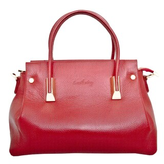Leatherbay Bellano Dark Red Leather Shoulder Handbag