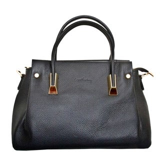 Leatherbay Bellano Black Leather Shoulder Handbag