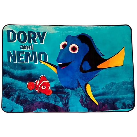 Disney Finding Dory Multicolor Non-Slip Polyester Kids Area Rug (4'6 x 6'8)