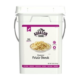Augason Farms Dehydrated Potato Shreds Bulk Food Storage 102 Servings