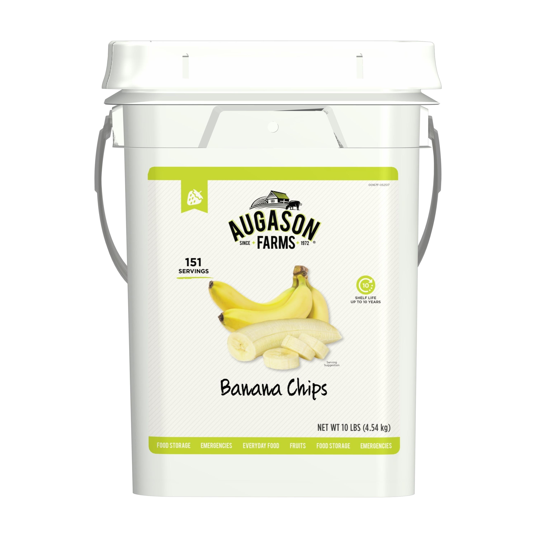 Augason Farms Banana Chips Bulk Food Storage 4-Gallon Pai...