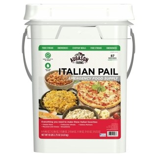 Augason Farms Italian Variety Emergency Food 4-Gallon Pail 87 Servings