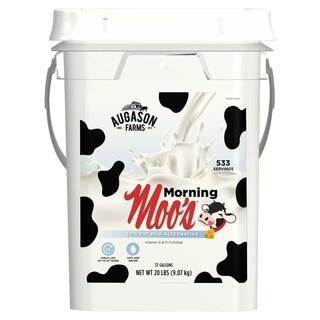 Augason Farms Morning Moos Low Fat Milk Alternative Certified Gluten Free Emergency Food Storage 20 Pound 4 Gallon Pail