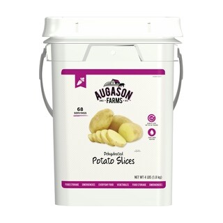 Augason Farms Dehydrated Potato Slices Shreds Bulk Food Storage