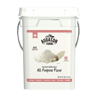 Augason Farms Enriched Unbleached All Purpose Flour Emergency Bulk Food Storage 17 Pound 4-Gallon Pail 257 Servings