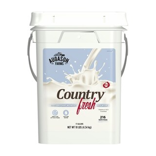 Augason Farms Country Fresh 100 Percent Real Nonfat Milk Certified Gluten Free Emergency Food Storage 4 Gallon Pail