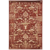 Serape Collection Hamadan Red Rug (2' x 3')