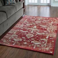 "Serape Collection Hamadan Red Rug (5' x 7'6"")"