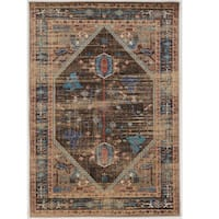 Serape Collection Heriz Brown/Multi Rug (2' x 3')