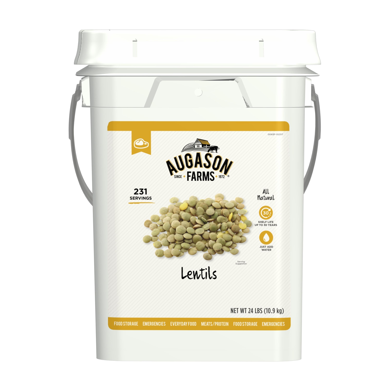 Augason Farms Lentil Beans Bulk Food Storage 4-Gallon Pai...
