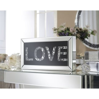 """Mirrored """"Love"""" Letter Block Table Accent (Set of 2)"""