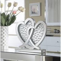 Mirrored Double Heart Table Accent