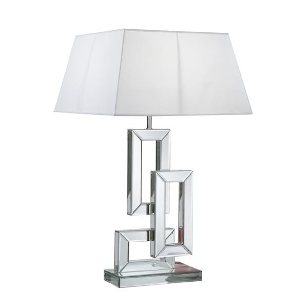 Best Quality Furniture Mirrored Linked Rectangle Table Lamp with Shade