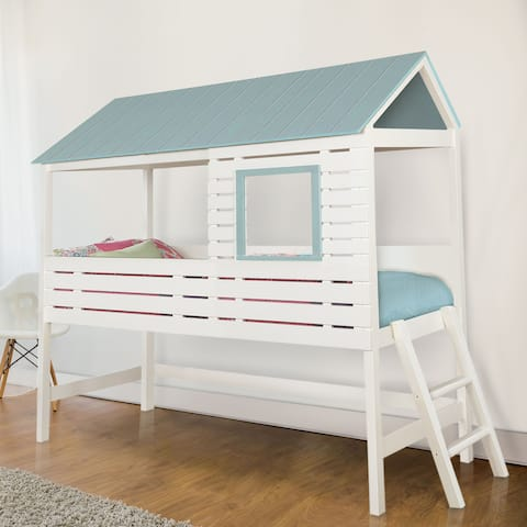 Furniture of America Lexy Modern White Twin Solid Wood Youth Bed