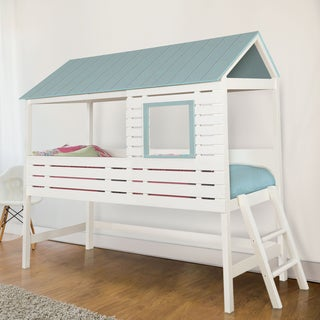 Furniture of America Lexy Two-Tone House Inspired White Twin-size Youth Bed