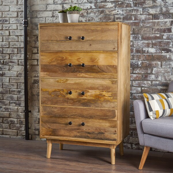 Houston 4 Drawer Wood Chest By Christopher Knight Home