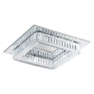 Eglo Corliano Square Ceiling Light with Chrome Finish and Crystals