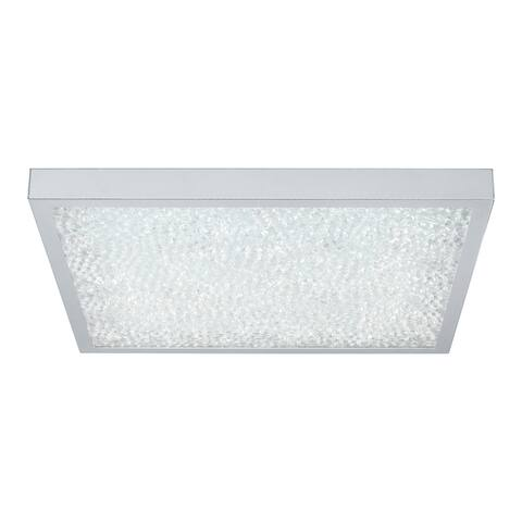 Eglo Cardito LED Ceiling Light with Chrome Finish and Clear Crystals