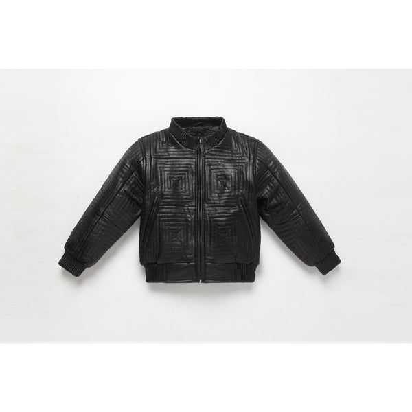 1aaff2f2df6a Shop Kid s Leather Bomber Jacket - Free Shipping Today - Overstock ...