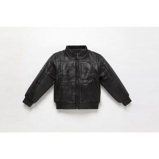 Kid's Leather Bomber Jacket