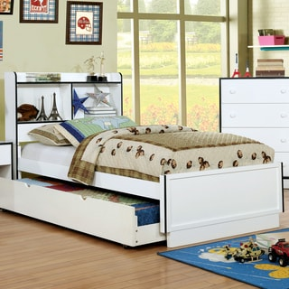 Furniture of America Trime Contemporary Twin-size Platform Bed with Bookcase Headboard