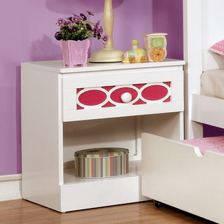 Furniture of America Circle Contemporary Two-Tone 1-drawer Youth Nightstand