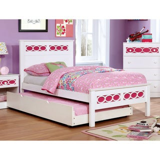 Furniture of America Circle Contemporary Two-Tone Twin-size Platform Bed