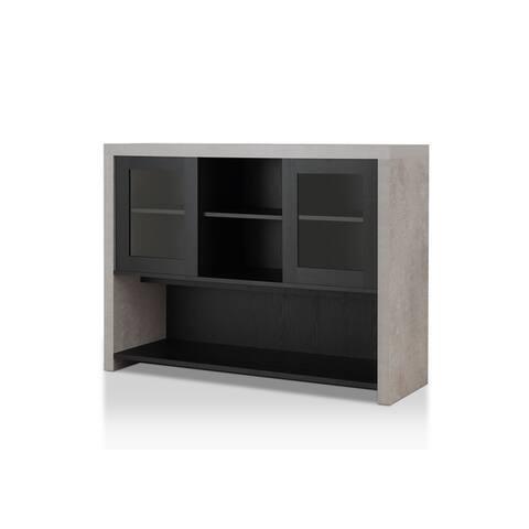 Furniture of America Kwen Industrial Black Storage Buffet