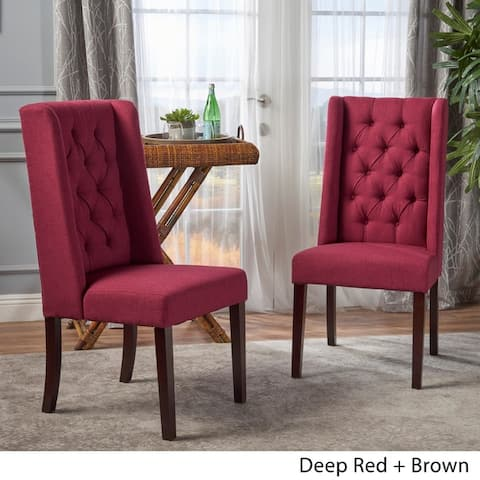Blythe Tufted Fabric Dining Chair by Christopher Knight Home (Set of 2)