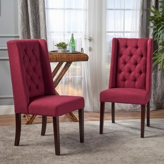 Blythe Tufted Fabric Dining Chair (Set of 2) by Christopher Knight Home