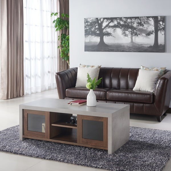 Industrial Storage Coffee Table Review: Shop Furniture Of America Kwen Industrial Style Storage
