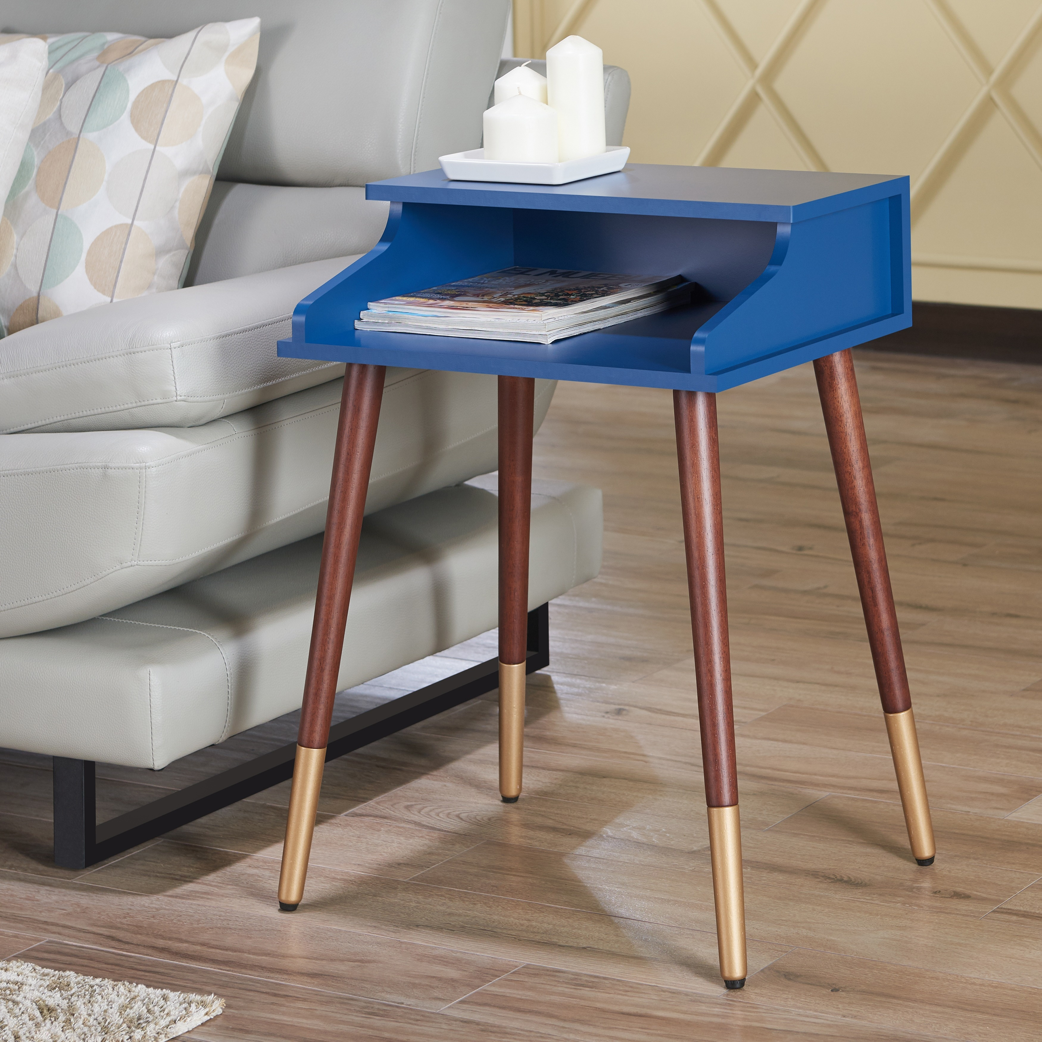 Furniture Of America Jeri Mid Century Modern Open End Table Ebay # Muebles Pestana