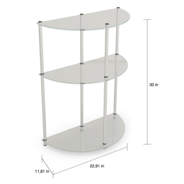 Porch & Den Japonica 3-tier Glass Semicircle Accent Table