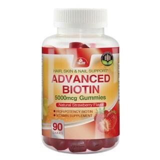 Advanced Biotin Gummies 5000mcg (90 gummies)