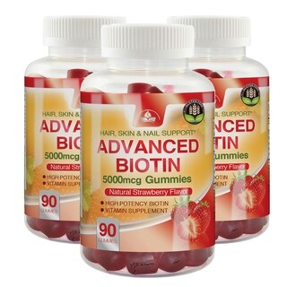 Advanced Biotin Gummies 5000mcg - Buy 2 Get 1 FREE