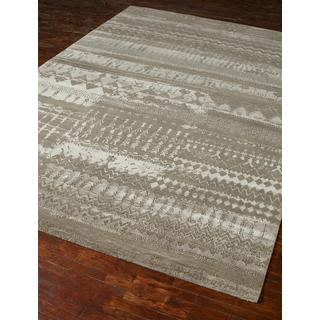 Hand-Knotted Dark Taupe Area Rug  (10' x 10')