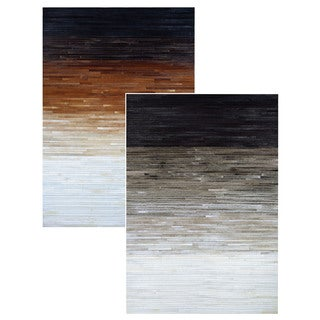 Couristan Chalet Homestead Cowhide Leather Area Rug (3'6 x 5'6)
