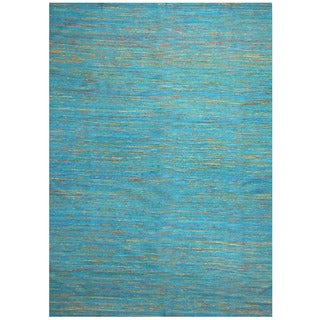 Herat Oriental Indo Hand-tufted Chenille Flatweave Contemporary Rug (10' x 13')